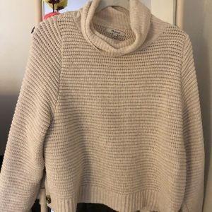 Madewell Cream Turtleneck Sweater